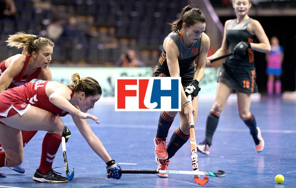 BERLIN - Indoor Hockey World Cup<br /> Women: Netherlands - United States<br /> foto: Kiki van Wijk<br /> WORLDSPORTPICS COPYRIGHT FRANK UIJLENBROEK