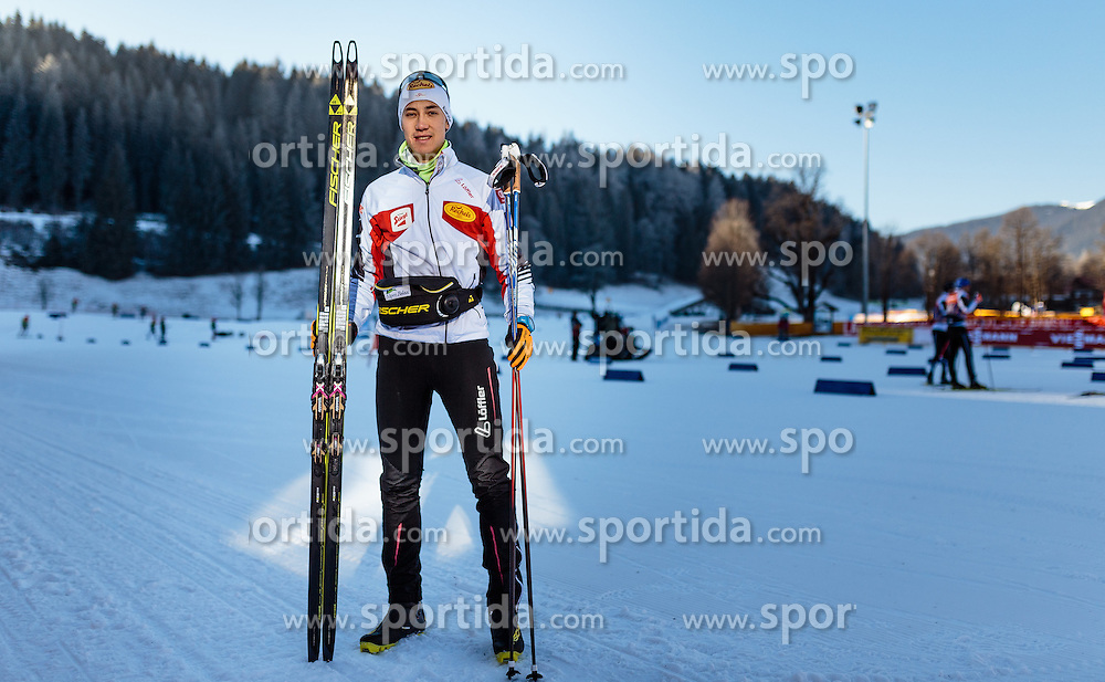 16.12.2016, Nordische Arena, Ramsau, AUT, FIS Weltcup Nordische Kombination, Langlauf, im Bild Mario Seidl (AUT) // Mario Seidl of Austria during Cross Country Training of FIS Nordic Combined World Cup, at the Nordic Arena in Ramsau, Austria on 2016/12/16. EXPA Pictures © 2016, PhotoCredit: EXPA/ JFK