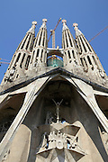 Passion facade Sagrada Familia Barcelona Spain