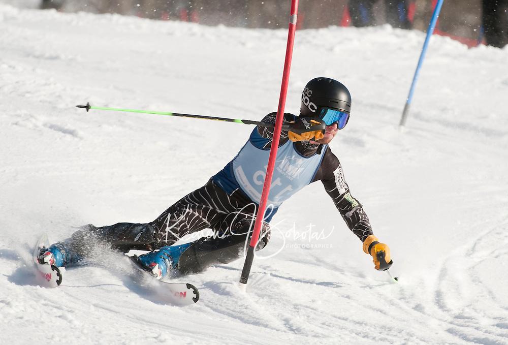 FIS Eastern Cup at Cranmore J1, J2 2nd run mens alpine slalom race January 29, 2012.