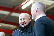 Accrington Stanley Manager John Coleman and Ipswich Town Manager Paul Lambert during the The FA Cup 3rd round match between Accrington Stanley and Ipswich Town at the Fraser Eagle Stadium, Accrington, England on 5 January 2019.