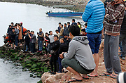 HUIZHOU, CHINA - MARCH 14: <br /> <br /> Stranded sperm whale in china<br /> <br /> Rescue staff try to save a stranded sperm whale , the largest of the toothed whales in Huizhou, Guangdong Province of China. Efforts have been made under way by divers to rescue the stranded sperm whale which swam into the Daya Bay Area. The partially-submerged sperm whale breathed slowly and was in bad health condition.<br /> ©Exclusivepix Media