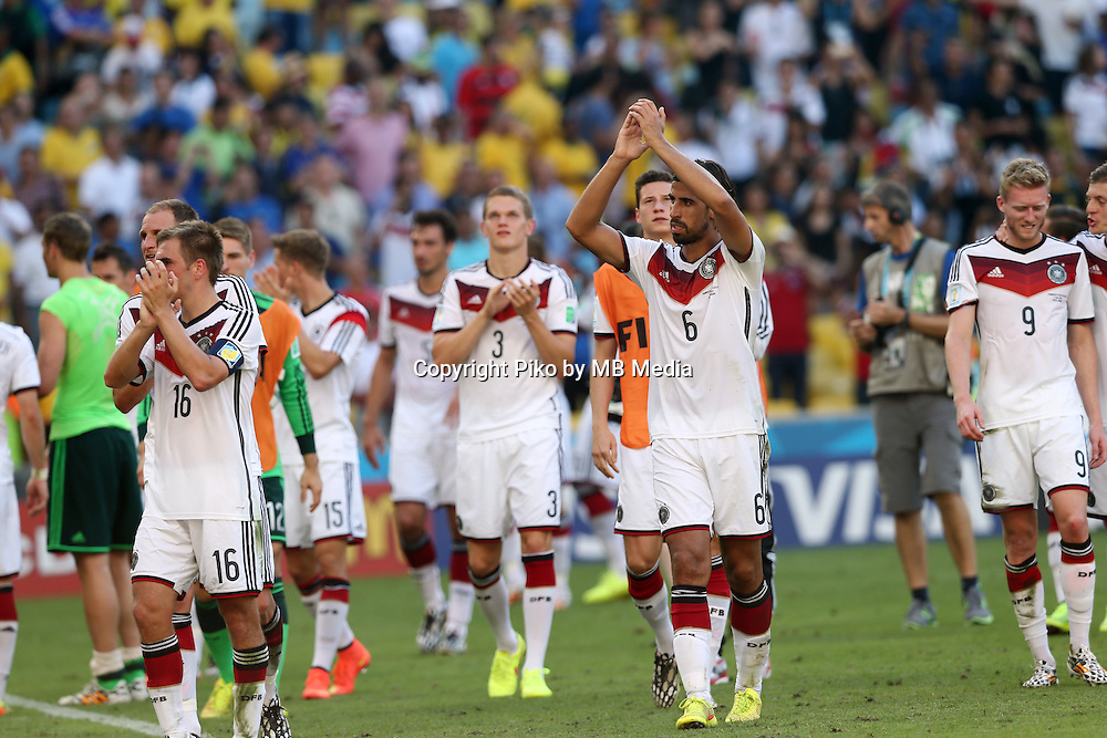 Fifa Soccer World Cup - Brazil 2014 - <br /> FRANCE (FRA) Vs. GERMANY (GER) - Quarter-finals - Estadio do MaracanaRio De Janeiro -- Brazil (BRA) - 04 July 2014 <br /> Here German players celebrating after finish the match.<br /> &copy; PikoPress