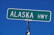 Alaska Highway sign, Alaska, USA
