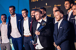 Rudi Pozeg Vancas of NK Celje with MVP trophy of Prva Liga Telekom Slovenije 2018/19 during SPINS XI Nogometna Gala 2019 event when presented best football players of Prva liga Telekom Slovenije in season 2018/19, on May 19, 2019 in Slovene National Theatre Opera and Ballet Ljubljana, Slovenia. Photo by Grega Valancic / Sportida.com