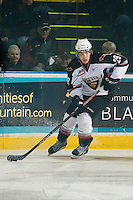 KELOWNA, CANADA, OCTOBER 1: Blake Orban #29 of the Vancouver Giants skates with the puck against the Kelowna Rockets on October 1, 2011 at Prospera Place in Kelowna, British Columbia, Canada (Photo by Marissa Baecker/Getty Images) *** Local Caption ***Blake Orban;