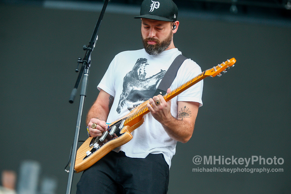 CHICAGO, IL - AUGUST 04: Josh Carter of Phantogram performs at Grant Park on August 4, 2017 in Chicago, Illinois. (Photo by Michael Hickey/Getty Images) *** Local Caption *** Josh Carter