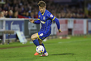 Jake Reeves midfielder for AFC Wimbledon (8) during  the Sky Bet League 2 Play-Off first leg match between AFC Wimbledon and Accrington Stanley at the Cherry Red Records Stadium, Kingston, England on 14 May 2016. Photo by Stuart Butcher.