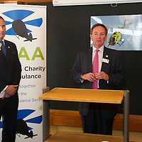 Scotland's Charity Air Ambulance (SCAA) launches from Perth Airport....22.05.13<br /> Gavin Davey<br /> Picture by Graeme Hart.<br /> Copyright Perthshire Picture Agency<br /> Tel: 01738 623350  Mobile: 07990 594431