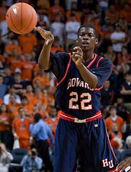 Howard forward Jeron Smith (22)..The Virginia Cavaliers men's basketball team faced the Howard Bison at the John Paul Jones Arena in Charlottesville, VA on November 14, 2007.