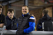 Forest Green Rovers manager, Mark Cooper during the Vanarama National League match between Sutton United and Forest Green Rovers at Gander Green Lane, Sutton, United Kingdom on 14 March 2017. Photo by Adam Rivers.
