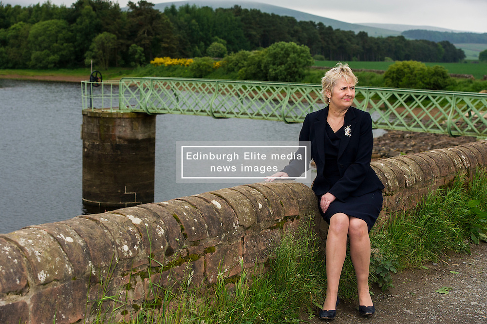 Pictured: Roseanna Cunningham, MSP<br /> <br /> The Climate Change Secretary,  Roseanna Cunningham, MSP, today toured Harlaw hydro project near Balerno at the same time as Scottish greenhouse gas emissions statistics were released. <br /> Ger Harley | EEm 14 June 2016