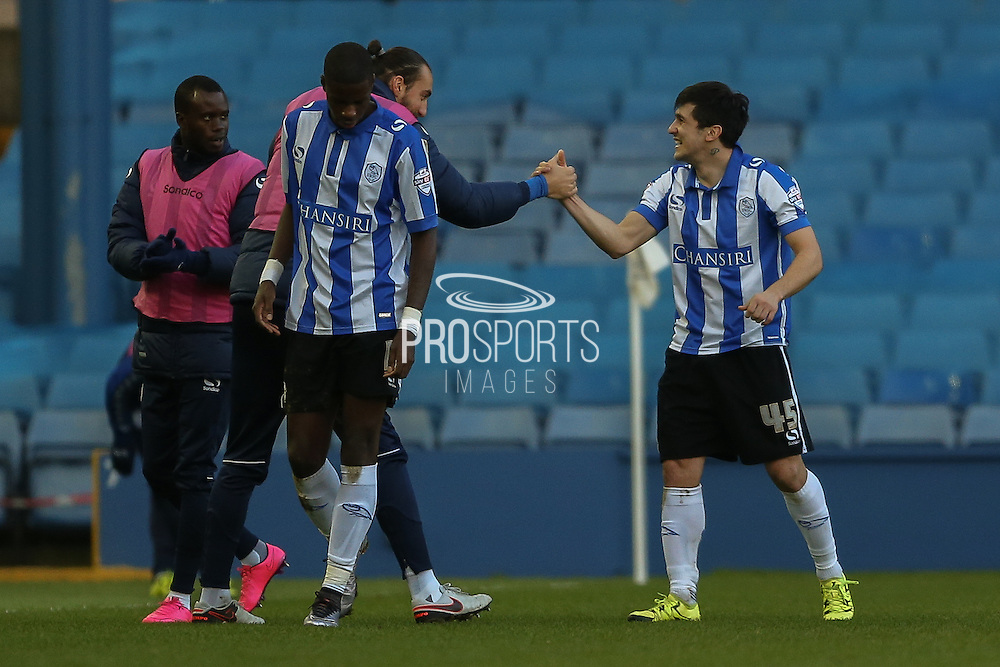 Sheffield Wednesday striker Fernando Forestieri celebrates his second goal during the Sky Bet Championship match between Sheffield Wednesday and Wolverhampton Wanderers at Hillsborough, Sheffield, England on 20 December 2015. Photo by Simon Davies.