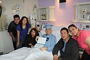 Madison HS senior Erick Reyes with his family at Texas Children's Hospital.