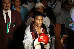 September 11, 2010; Las Vegas, NV; USA; Yuriorkis Gamboa and Orlando Salido during their 12 round IBF/WBC featherweight bout at the Pearl at the Palms.