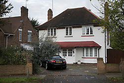 © Licensed to London News Pictures. 04/11/2017. London, UK. A house (C) in Wimbledon where a seven year old girl was found seriously injured on Friday. Robert Peters appeared at Wimbledon Magistrates' Court on Saturday charged with attempted murder. The Photo credit:girl is in hospital, but is not expected to survive.  Peter Macdiarmid/LNP