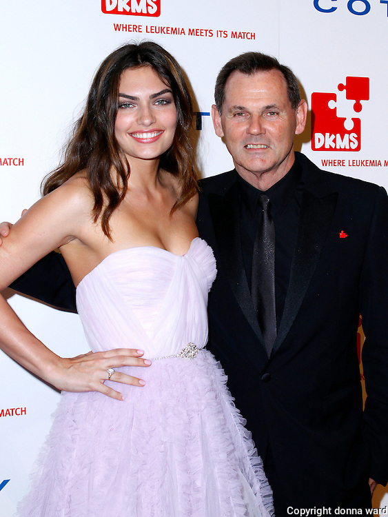 Alissa Miller and Bernd Beetz pose at the 5th Annual DKMS Gala at Cipriani Wall Street in New York City on April 28, 2011.