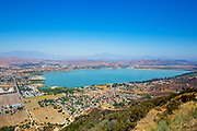 A View of Lake Elsinore from the Santa Ana Mountains Looking East