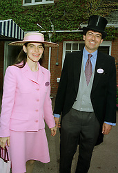 MR & MRS NICK BARHAM, she is the daughter of Kerry Packer, at Royal Ascot on 17th June 1997.LZI 76
