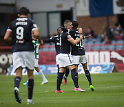 Dundee&rsquo;s Faissal El Bakhtaoui (right) is congratulated after scoring by Randy Wolters - Dundee v Buckie Thistle, Betfred Cup at Dens Park, Dundee, Photo: David Young<br /> <br />  - &copy; David Young - www.davidyoungphoto.co.uk - email: davidyoungphoto@gmail.com