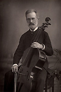 Alfredo Piatti (1822-1901) Italian cellist.   From 'The Cabinet Portrait Gallery' (London, 1890-1894).  Woodburytype after photograph by W & D Downey.