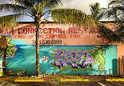 Graffiti style mural on a Bahamanian restaurant in Miami's Buena Vista West neighborhood just north of Wynwood