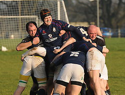 Getting to grips Westport forwards attempting to maul.<br />Pic Conor McKeown
