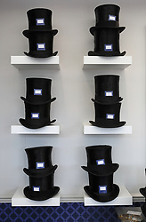 A general view of shelves stacked with top hats during day two of Royal Ascot at Ascot Racecourse.