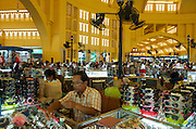 The Central Market, 1937, by  French architect Louis Chauchon. It is in the shape of a dome with four arms branching out into large hallways with hundreds of stalls of goods.