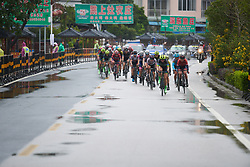 The lead group at GREE Tour of Guangxi Women's World Tour 2018, a 145.8 km road race in Guilin, China on October 21, 2018. Photo by Sean Robinson/velofocus.com