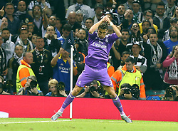 June 3, 2017 - Cardiff, Walles, United Kingdom - Cristiano Ronaldo of Real Madrid CF celebrates his goal during the UEFA Champions League -  Final match between Real Madrid and Juventus  at  National Wales Stadium in Cardiff, Wales on June 03, 2017  (Credit Image: © Kieran Galvin/NurPhoto via ZUMA Press)