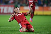 FUSSBALL   1. BUNDESLIGA   SAISON 2012/2013  5. SPIELTAG  26.09.2012 SC Freiburg - SV Werder Bremen JUBEL Torschuetze zum 1-0 Jonathan Schmid (SC Freiburg)
