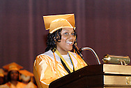Valedictorian Juanita JoyLynn Tabb delivers the Valedictory address during the Fiftieth Meadowdale High School commencement at the Dayton Masonic Center, Saturday, May 21, 2011.  This is also the first of 'the new Meadowdale High School' since they moved into the new building as seniors.