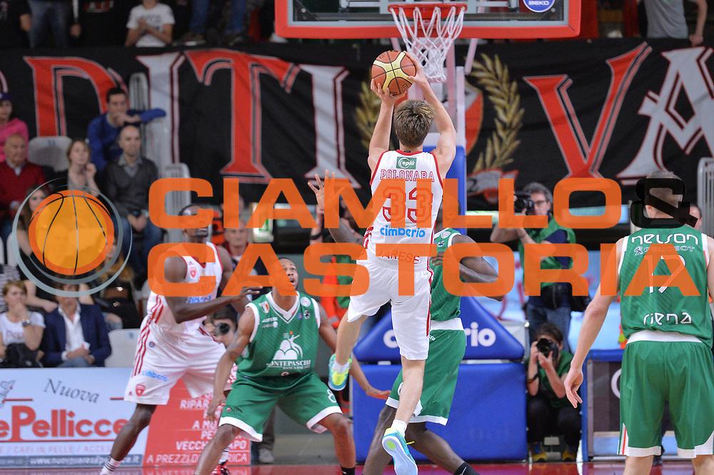 DESCRIZIONE : Varese Lega A 2013-14 Cimberio Varese Montepaschi Siena<br /> GIOCATORE : Achille Polonara<br /> CATEGORIA : Tiro<br /> SQUADRA : Cimberio Varese<br /> EVENTO : Campionato Lega A 2013-2014<br /> GARA : Cimberio Varese Montepaschi Siena<br /> DATA : 04/05/2014<br /> SPORT : Pallacanestro <br /> AUTORE : Agenzia Ciamillo-Castoria/I.Mancini<br /> Galleria : Lega Basket A 2013-2014  <br /> Fotonotizia : Varese Lega A 2013-14 Cimberio Varese Montepaschi Siena<br /> Predefinita :