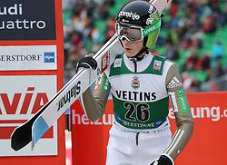 03.02.2017, Heini Klopfer Skiflugschanze, Oberstdorf, GER, FIS Weltcup Ski Sprung, Oberstdorf, Skifliegen, im Bild Cene Prevc (SLO) // Cene Prevc (SLO) during mens FIS Ski Flying World Cup at the Heini Klopfer Skiflugschanze in Oberstdorf, Germany on 2017/02/03. EXPA Pictures © 2017, PhotoCredit: EXPA/ Sammy Minkoff<br /> <br /> *****ATTENTION - OUT of GER*****