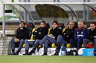 16-04-2016 VOETBAL:RODA JC - PSV:KERKRADE<br /> Trainer/Coach Phillip Cocu van PSV en Ruud Brood op de bank<br /> Foto: Geert van Erven
