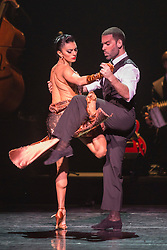 © Licensed to London News Pictures. 29/02/2016. London, UK. German Cornejo and Gisela Galeassi. The Argentine Tango show Immortal Tango created by German Cornejo opens at the Peacock Theatre on 1 March 2016 and runs until 19 March 2016. Photo credit: Bettina Strenske/LNP