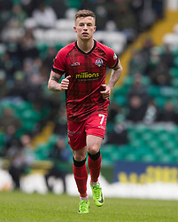 Morton's Gary Oliver during the William Hill Scottish Cup, Quarter Final match at Celtic Park, Glasgow.