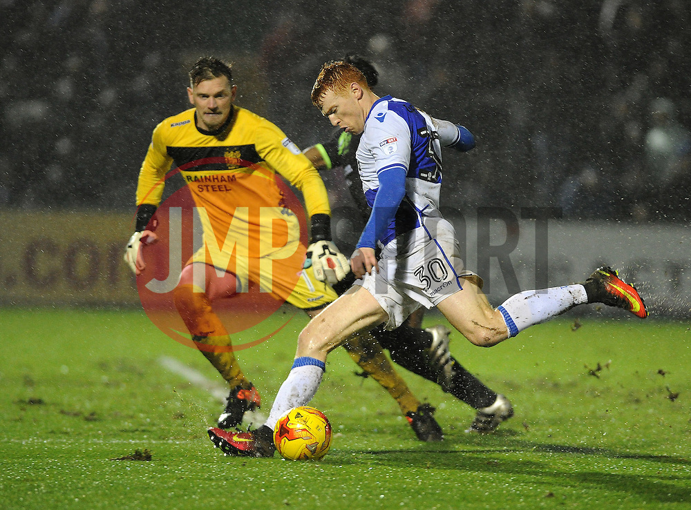 Rory Gaffney of Bristol Rovers takes a shot - Mandatory by-line: Neil Brookman/JMP - 10/12/2016 - FOOTBALL - Memorial Stadium - Bristol, England - Bristol Rovers v Bury - Sky Bet League One