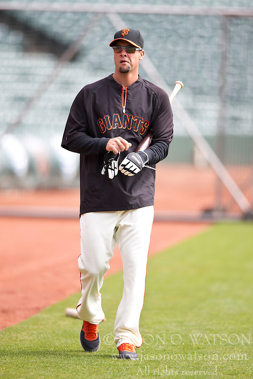 SAN FRANCISCO, CA - APRIL 26:  Ryan Vogelsong #32 of the San Francisco Giants walks across the field during batting practice before the game against the Cleveland Indians at AT&T Park on April 26, 2014 in San Francisco, California. The San Francisco Giants defeated the Cleveland Indians 5-3.  (Photo by Jason O. Watson/Getty Images) *** Local Caption *** Ryan Vogelsong
