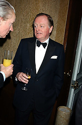 ANDREW PARKER BOWLES at the Cartier Racing Awards held at the Four Seasons Hotel, Hamilton Place, London W1 on 16th November 2005.<br /><br />NON EXCLUSIVE - WORLD RIGHTS