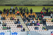Forest Green Rovers away support during the EFL Sky Bet League 2 match between Cambridge United and Forest Green Rovers at the Cambs Glass Stadium, Cambridge, England on 7 September 2019.
