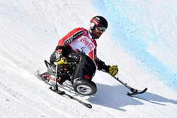 OATWAY Kurt LW12-1 CAN competing in the Para Alpine Skiing Downhill at the PyeongChang2018 Winter Paralympic Games, South Korea