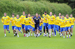 Bristol Rovers players are put through their paces as they return for pre season training  - Photo mandatory by-line: Joe Meredith/JMP - Tel: Mobile: 07966 386802 24/06/2013 - SPORT - FOOTBALL - Bristol -  Bristol Rovers - Pre Season Training - Npower League Two