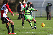 Forest Green Rovers Omar Bugiel(11) passes the ball during the The Central League match between Cheltenham Town Reserves and Forest Green Rovers Reserves at The Energy Check Training Ground, Cheltenham, United Kingdom on 28 November 2017. Photo by Shane Healey.