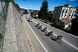 SC Michela Fanini at Giro Rosa 2018 - Stage 1, a 15.5 km team time trial in Verbania, Italy on July 6, 2018. Photo by Sean Robinson/velofocus.com
