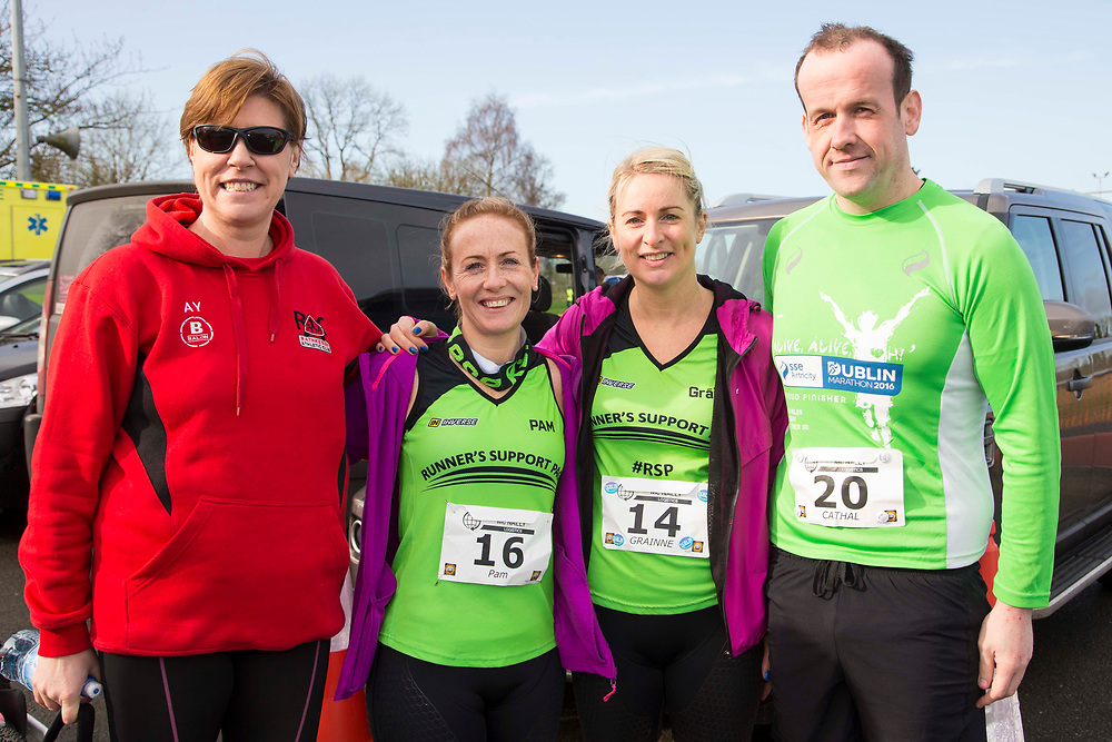 12/03/2017, Bohermeen AC 10k road Race & Half Marathon<br /> Pictured at the event, L-R, Anne Young, Pam O`Rourke, Grainne Cahill & Cathal Reilly<br /> David Mullen / www.cyberimages.net<br /> ISO: 250; Shutter: 1/250; Aperture: 7.1; <br /> File Size: 2.5MB<br /> Actuations: