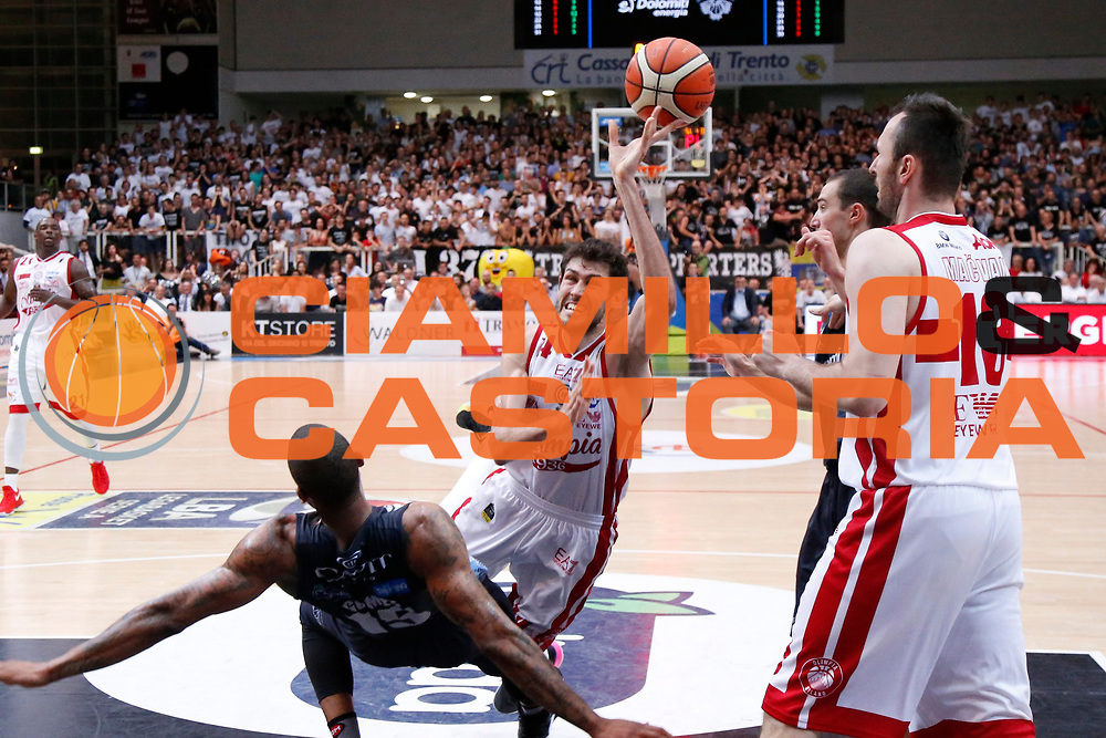 Davide Pascolo<br /> Dolomiti Energia Aquila Basket Trento - EA7 Emporio Armani Olimpia Milano<br /> Semifinale Gara 4, Lega Basket Serie A 2016/2017<br /> PalaTrento 31/05/2017<br /> Foto Ciamillo-Castoria / M.Brondi