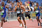 Donavan Brazier (USA) wins the 800m in 1:43.63 during the 39th Golden Gala Pietro Menena in an IAAF Diamond League meet at Stadio Olimpico in Rome on Thursday, June 6, 2019. (Jiro Mochizuki/Image of Sport)