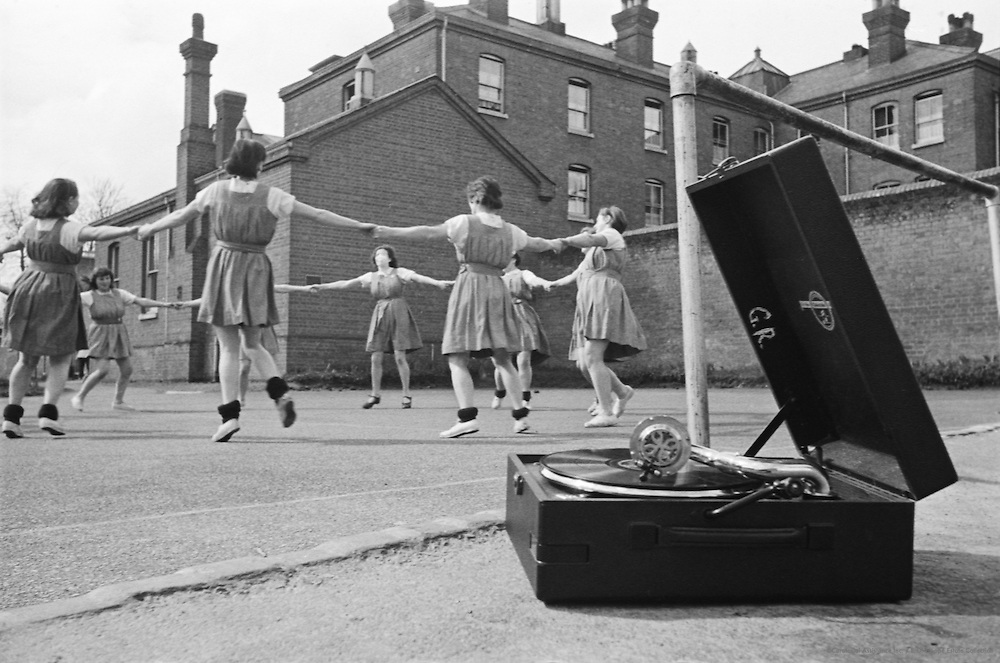 Girls Dancing to Gramophone, Borstal Institute, England, 1937